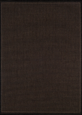 Couristan Recife Saddlestitch Black/Cocoa Machine Loomed Area Rug