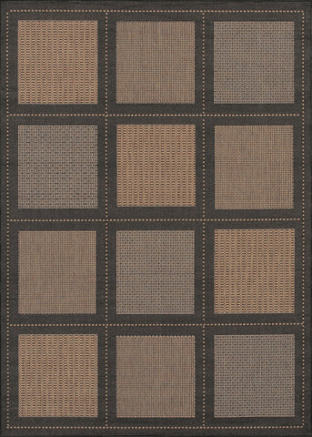 Couristan Recife Summit Cocoa/Black Machine Loomed Area Rug