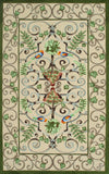 Rug Market America CO Roku Ivory/Green/Peach Area 5' 0'' X 8' 0''