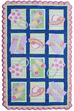 Rug Market America CO My Accessories Green/Pink Area 4' 7'' X 7' 7''
