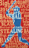 Rug Market America Kids Batter Up! Red/Blue Area 2' 8'' X 4' 8''