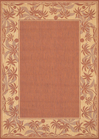 Couristan Recife Island Retreat Terra Cotta/Natural Machine Loomed Area Rug