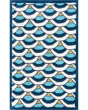 Rug Market America Kids Chi-Lin Blue Blue/White/Teal Area main image