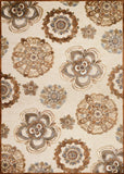 Couristan Cire` Gilmore Antique Cream/Terra Area Rug