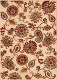 Couristan Cire` Marlow Antique Cream/Ruby Area Rug