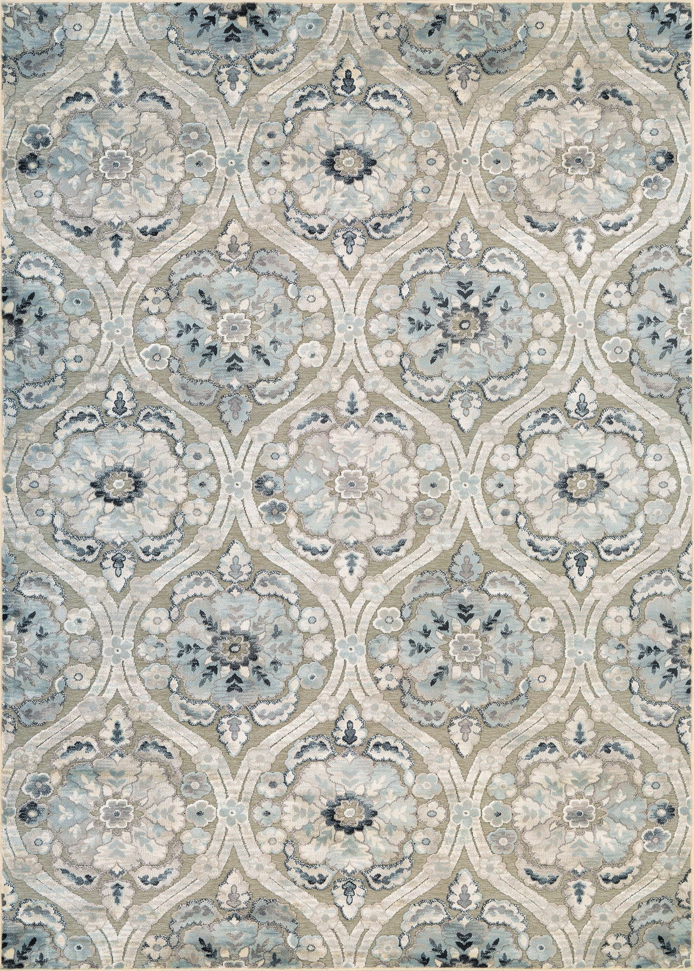 Couristan Cire` Cherrington Greige/Antique Cream Area Rug