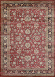 Couristan Zahara Farahan Amulet Red/Black/Oatmeal Area Rug