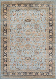 Couristan Zahara Farahan Amulet Light Blue/Black Area Rug