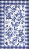 Rug Market America CO Rooster Toile Blue Blue/White Area 10' 0'' X 14' 0''