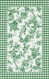 Rug Market America CO Rooster Toile Green Green/White Area 7' 6'' X 9' 6''