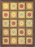 Rug Market America CO Queen Anne Black/Green/Gold Area 7' 6'' X 9' 6''