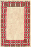 Rug Market America CO Vogue Border Tan/Red Area main image