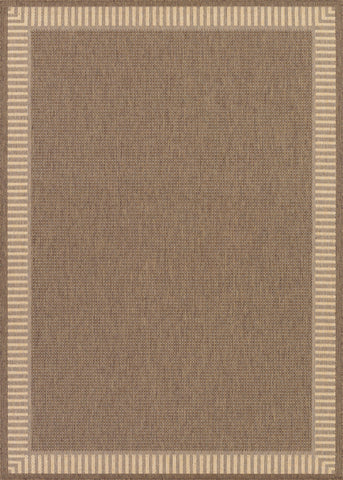 Couristan Recife Wicker Stitch Cocoa/Natural Area Rug main image