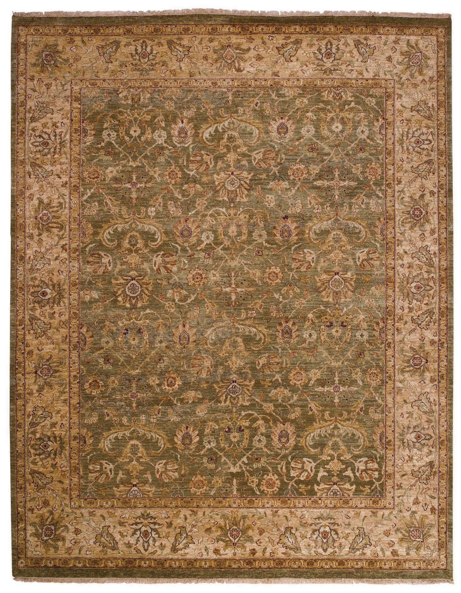 Capel Boca Park Mahal 1774 Green Beige 200 Area Rug Incredible Rugs And Decor