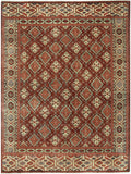 Capel Heritage Gabbeh 1901 Dk Red Multi 555 Area Rug main image