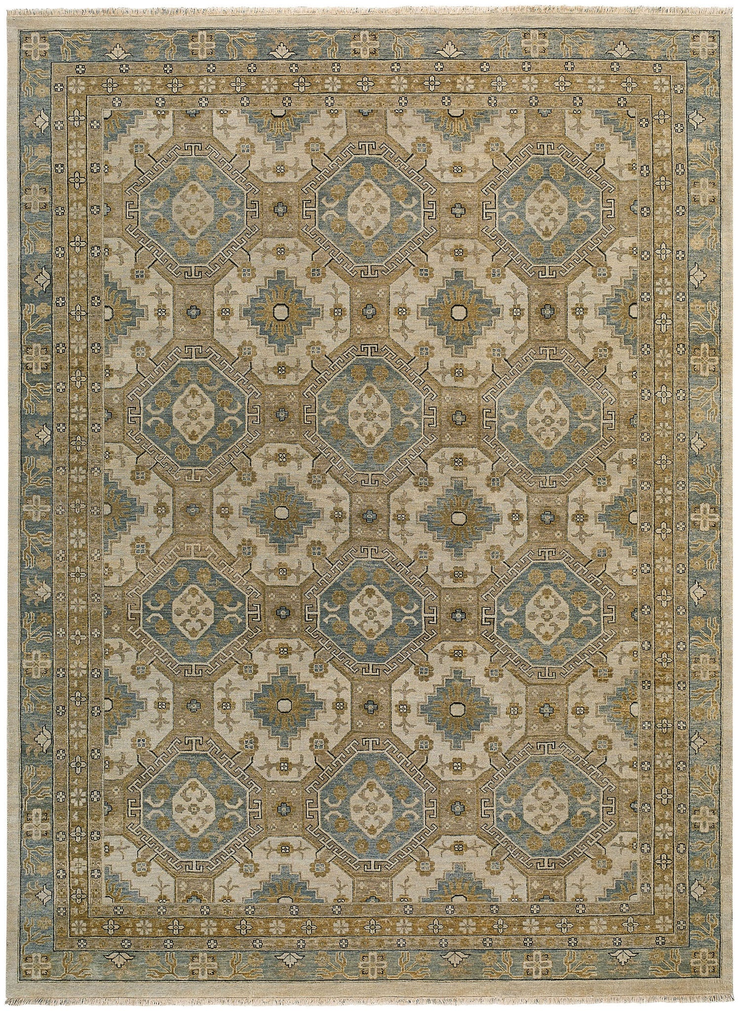 Capel Brandon 1908 Beige Blue 740 Area Rug main image