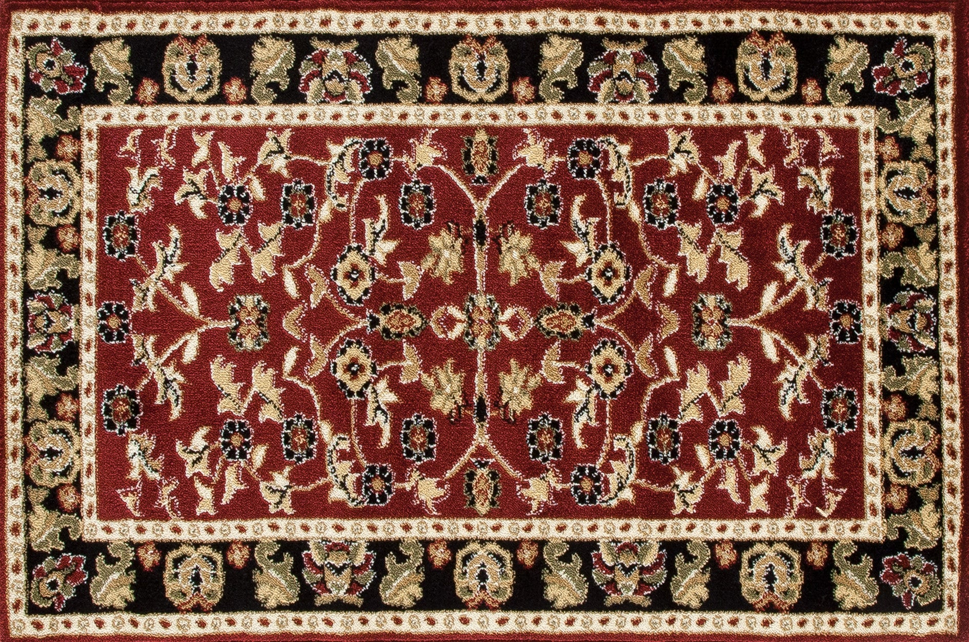 Art Carpet Hearth 1928 Burgundy/Black Area Rug main image