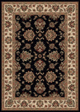 Radici Vesuvio 1691 Black Machine Woven Area Rug
