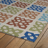 Kaleen Home and Porch 2032-29 Sand Area Rug Close-up Shot