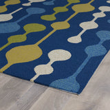 Kaleen Home and Porch 2035-17 Blue Hand Tufted Area Rug