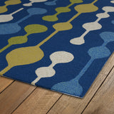 Kaleen Home and Porch 2035-17 Blue Area Rug Close-up Shot