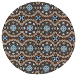 Kaleen Home and Porch 2036-17 Blue Area Rug Round Shot