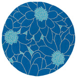 Kaleen Home and Porch 2041-17 Blue Area Rug Round Shot