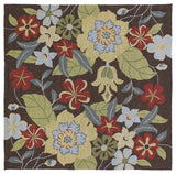 Kaleen Habitat Salty Leaves-02 Mocha Area Rug Square Shot