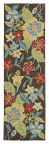 Kaleen Habitat Salty Leaves-02 Mocha Area Rug Runner Shot