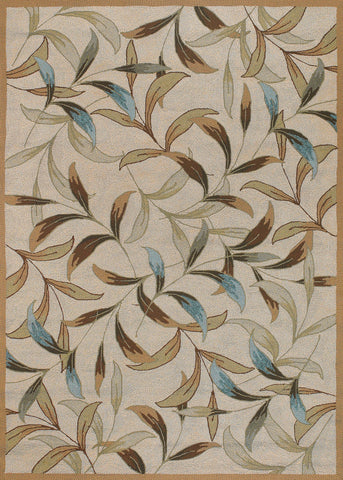 Couristan Covington Spring Vista Neutrals/Blue Area Rug