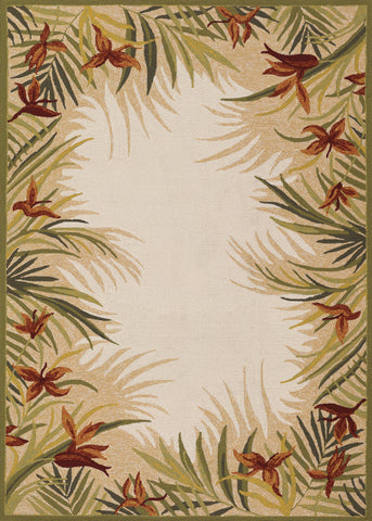 Couristan Covington Tropic Gardens Sand/Multi Area Rug