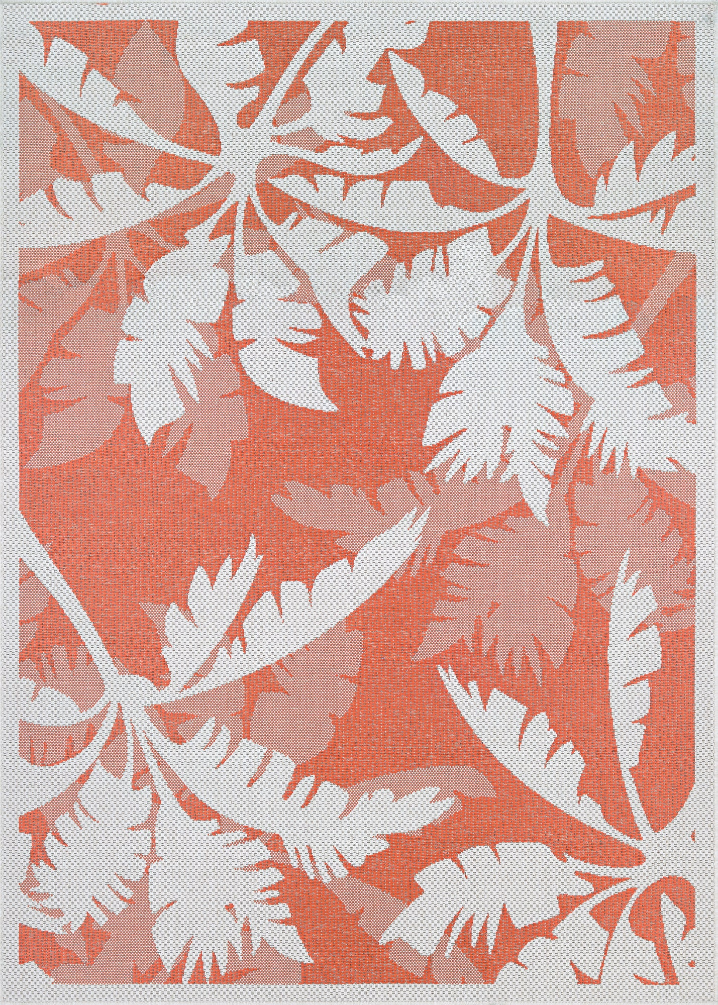 Couristan Monaco Coastal Flora Ivory/Orange Area Rug