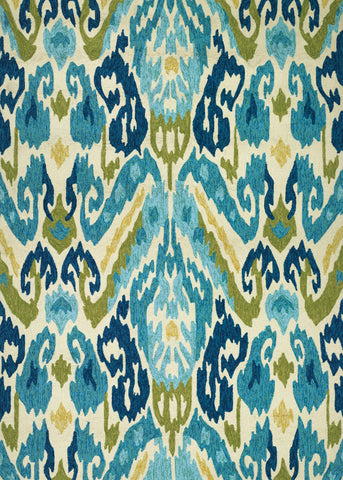 Couristan Covington Delfina Azure/Lemon Area Rug
