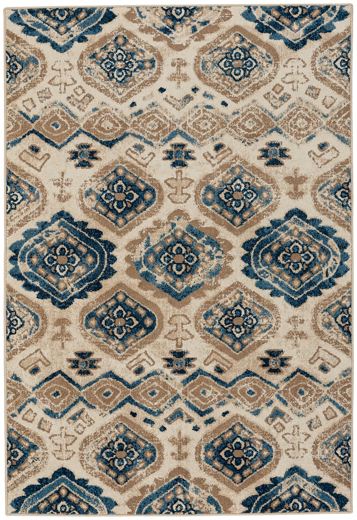 Capel Bethel Diamond 2462 Taupe Blue 640 Area Rug main image