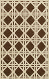 Rug Market America CO Cane Brown Brown/Ivory Area 5' 0'' X 8' 0''