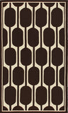 Rug Market America CO Geo Brown Brown/Ivory Area 5' 0'' X 8' 0''