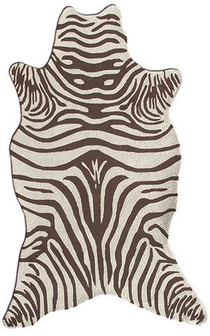 Rug Market America Resort Zebra Brown Shaped Brown/Cream Area main image