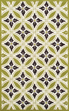 Rug Market America CO Florin Green Green/Cream Area 5' 0'' X 8' 0''