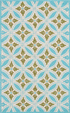 Rug Market America CO Florin Blue Blue/Green/Cream Area 5' 0'' X 8' 0''