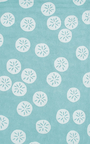 Rug Market America Resort Sand Dollar Blue Aqua/White Area main image