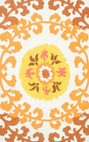 Rug Market America CO Suzani Gold Yellow/Gold/White Area 7' 6'' X 9' 6''