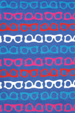 Rug Market America CO Hepburn Blue/Red/White/Pink Area 5' 0'' X 7' 6''