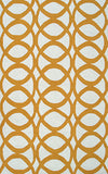 Rug Market America CO Refraction Yellow/White Area 7' 6'' X 9' 6''