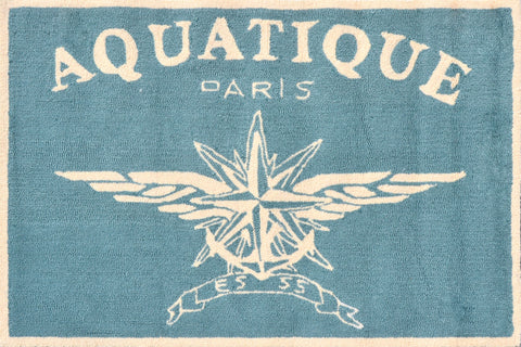 Rug Market America CO Aquatique Aqua Aqua/White Area main image