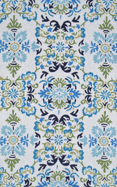 Rug Market America Resort Seriano White/Blue/Green Area main image