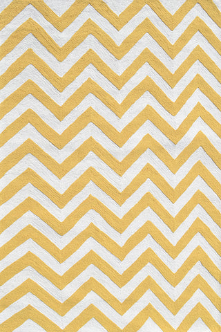 Rug Market America Kids Chevron Yellow Yellow/White Area main image
