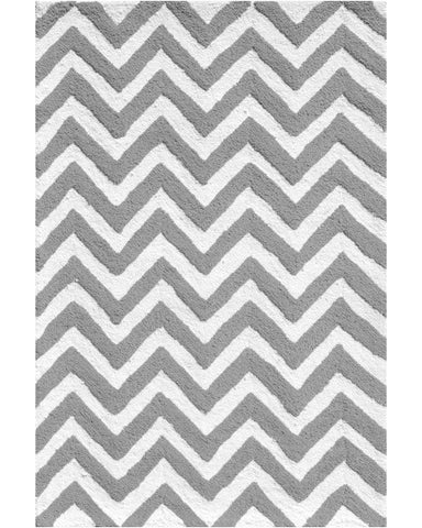 Rug Market America Kids Chevron Gray Area main image