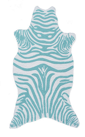 Rug Market America Kids Mini Zebra Teal Teal/White Area main image