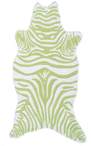 Rug Market America Kids Mini Zebra Lime Lime/White Area main image