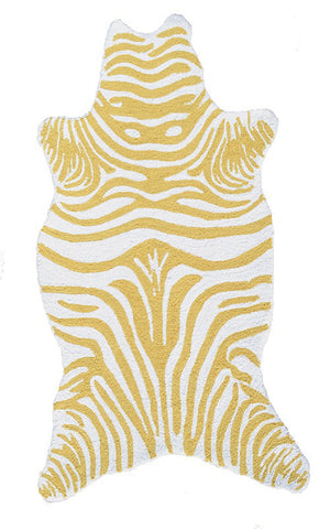 Rug Market America Kids Mini Zebra Yellow Yellow/White Area main image